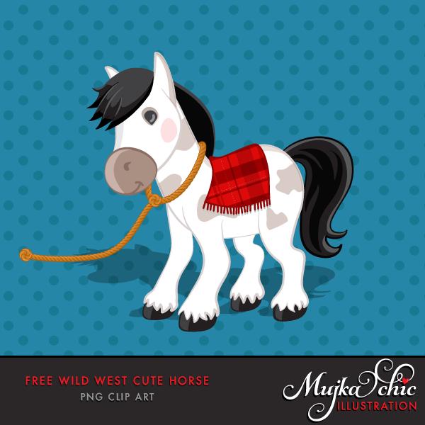 free wild west pony horse clipart