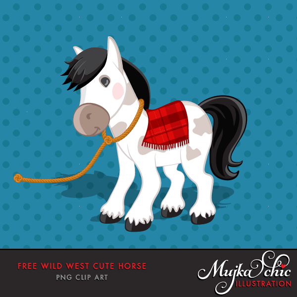 free wild west pony horse clipart