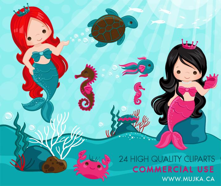 cute-little-mermaid-clip-art