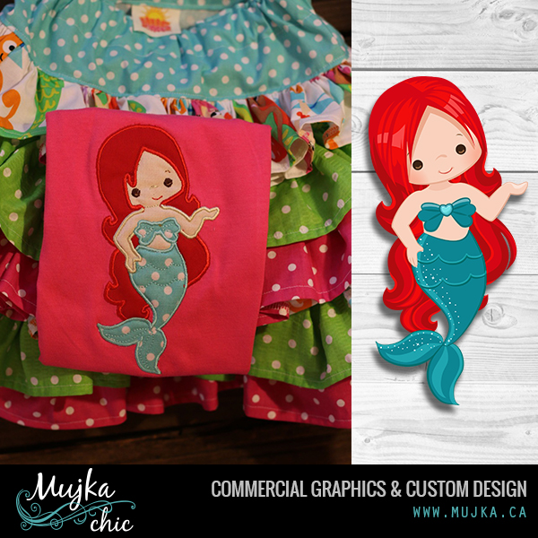 MUJKA-MERMAID-SINGLE-CLIPART-APPLIQUE-EMBROIDERY