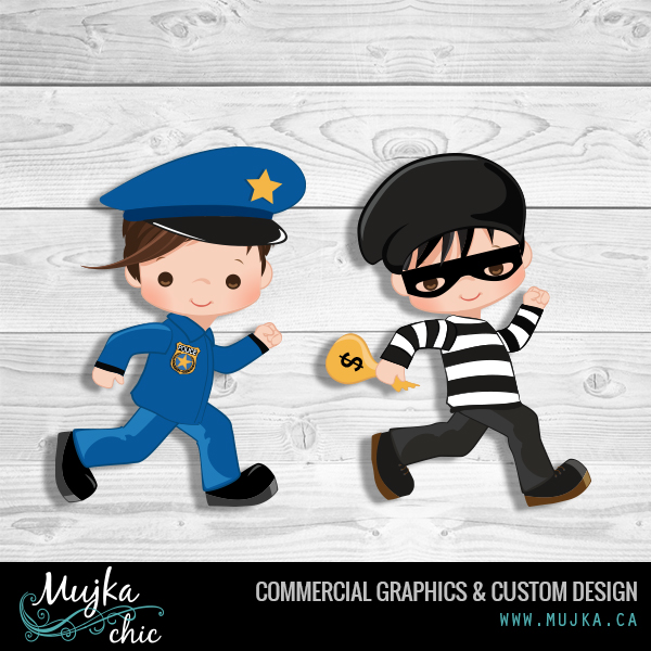 MUJKA-cop-burgler-illustrations