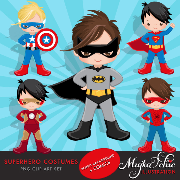 SUPERHERO-COSTUMES-CLIPART