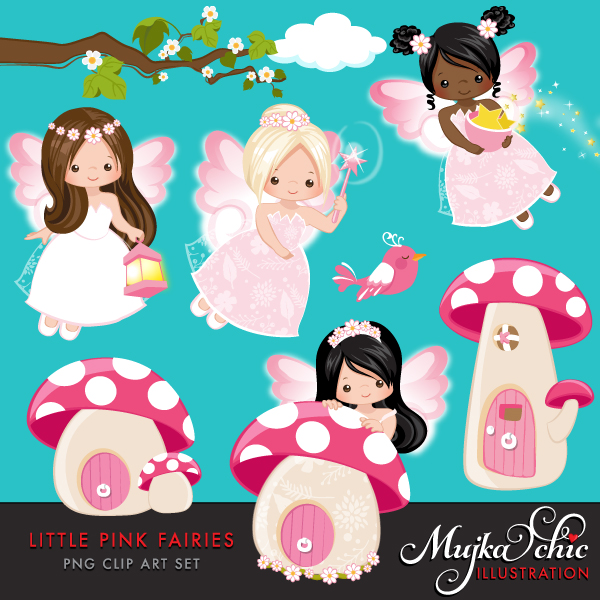 LITTLE-PINK-FAIRIES-clipart