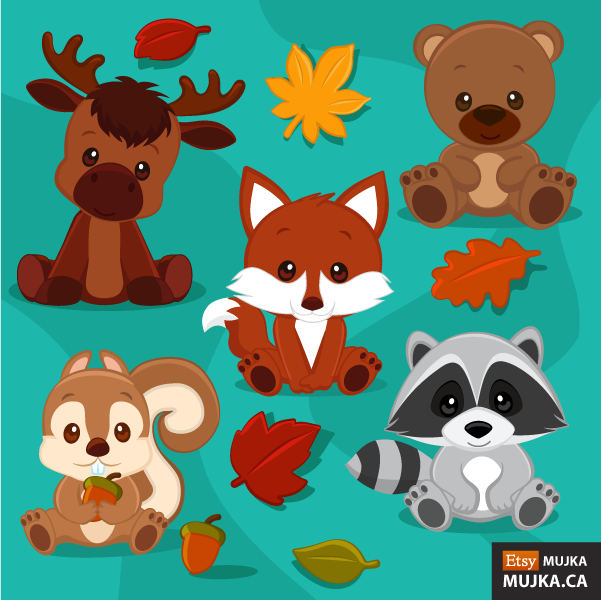 BABY-WOODLAND-ANIMALS-CLIPART-02