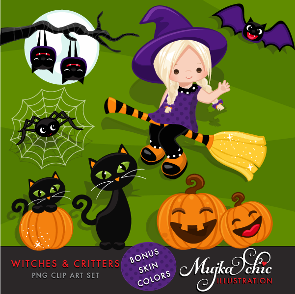 HALLOWEEN-WITCHES-CRITTERS-CLIPART-01