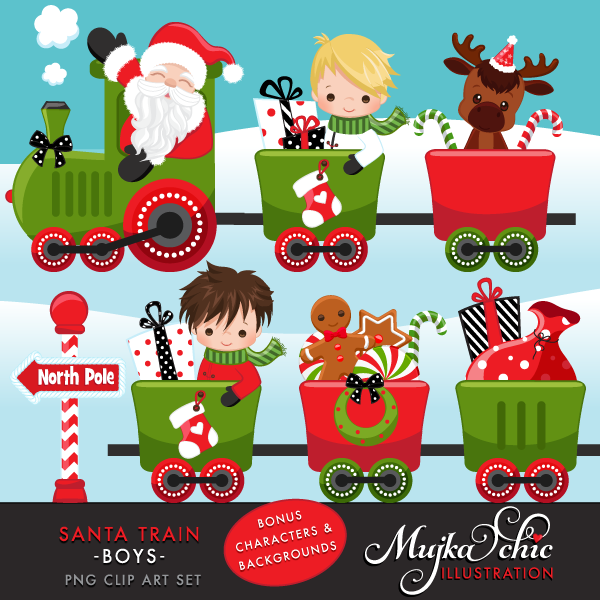 SANTA-TRAIN-boys-clipart
