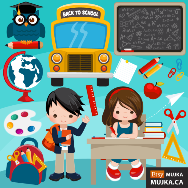 60 % OFF SALE & Back to School Cliparts | MUJKA CHIC ...