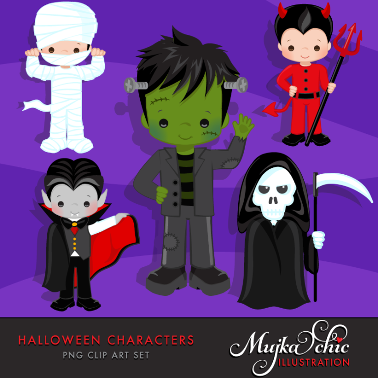 HALLOWEEN-CHARACTERS-CLIPART-01