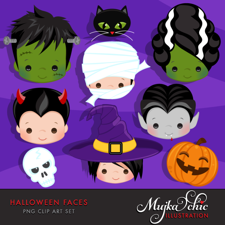 HALLOWEEN-FACES-CLIPART