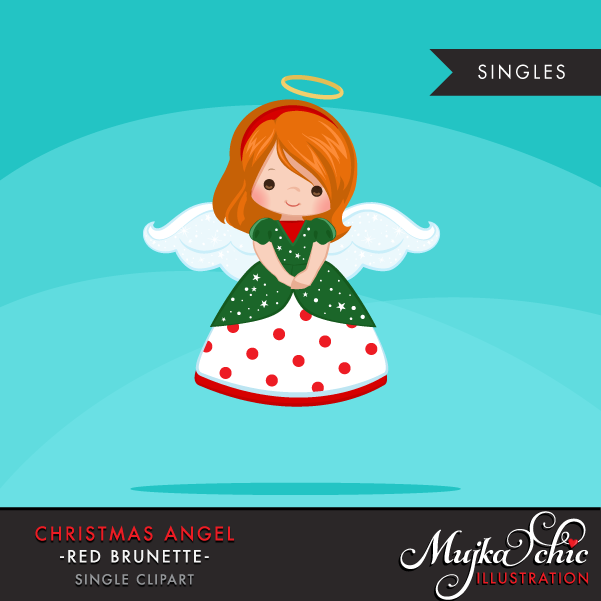 christmas-angels-clipart-red-brunette-10