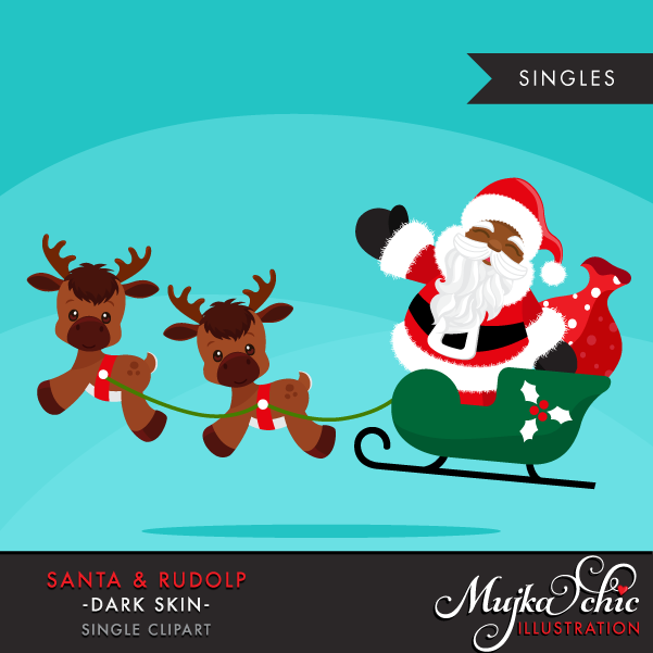 santa-and-rudolph-clipart-02