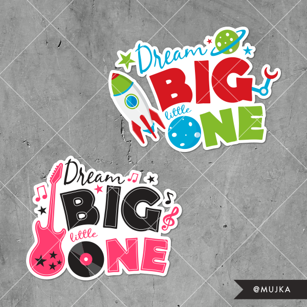 dream-big-little-one-lettering-word-art
