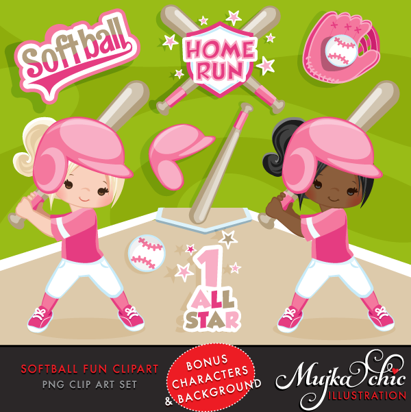 SOFTBALL CLIPART